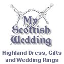 My Scottish Wedding highland dress gifts and wedding rings